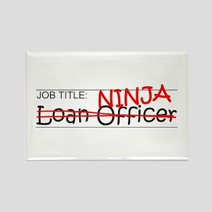 Job Ninja Loan Officer Rectangle Magnet