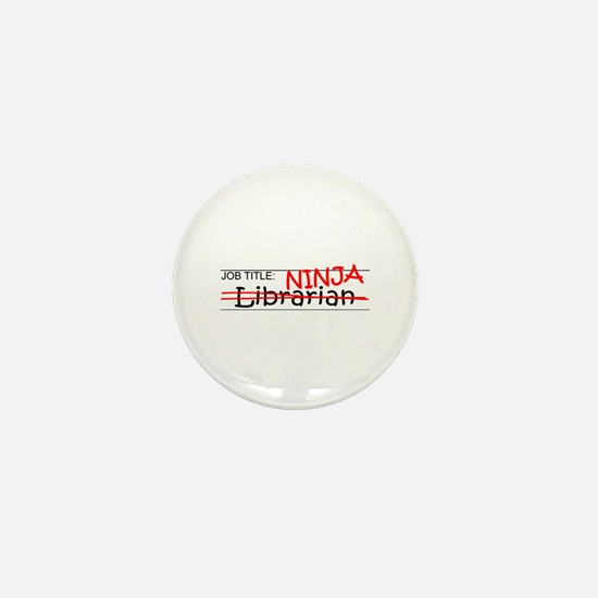 Job Ninja Librarian Mini Button