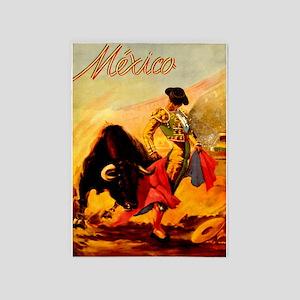 Vintage Mexico Matador Travel 5'x7'Area Rug
