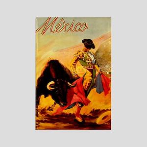 Vintage Mexico Matador Travel Rectangle Magnet