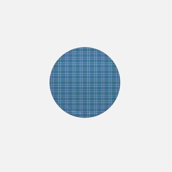 Blue Sky Plaid Mini Button