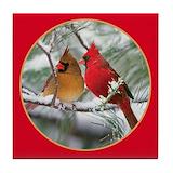 Cardinal Tile Coasters
