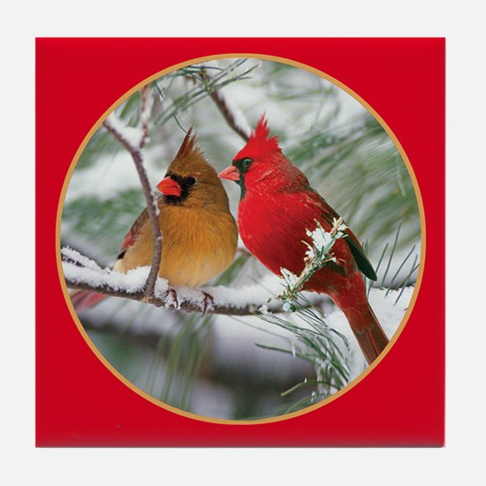 Cardinals Tile Coaster