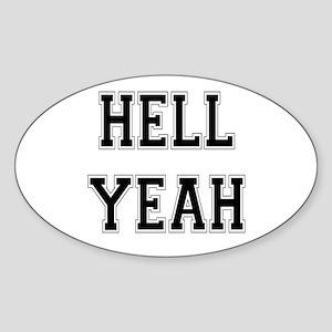 Hell Yeah Oval Sticker