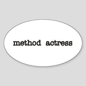 Method Actress Oval Sticker
