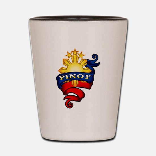 Pinoy Coat of Arms Shot Glass