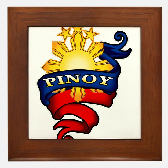 Pinoy Coat of Arms Framed Tile