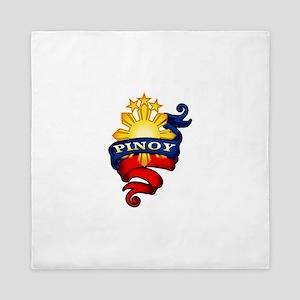 Pinoy Coat of Arms Queen Duvet