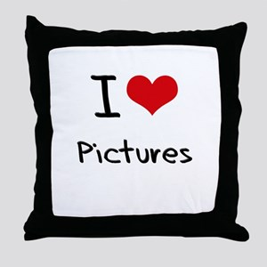 I Love Pictures Throw Pillow