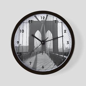 Wall Clock<BR>Vintage Brooklyn Bridge