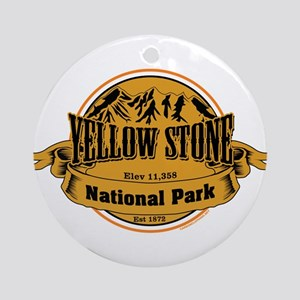 Yellow Stone Wyoming Ornament (Round)