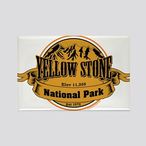 Yellow Stone Wyoming Rectangle Magnet