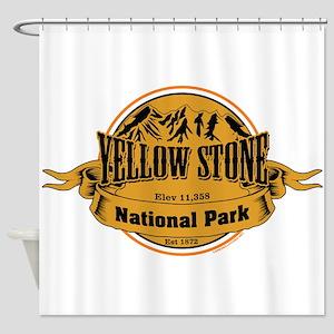 Yellow Stone Wyoming Shower Curtain