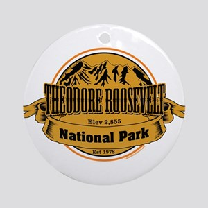 Theodore Roosevelt , North Dakota Ornament (Round)