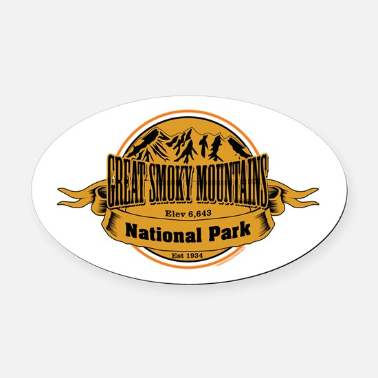 Great Smokey Mountains, Tennessee Oval Car Magnet