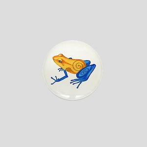 Swirly Frog Mini Button