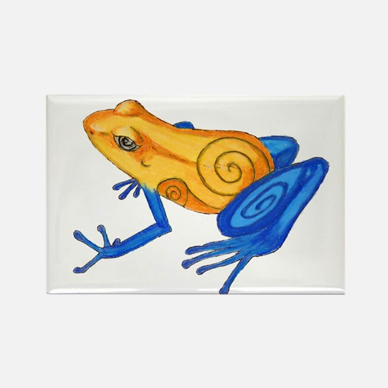 Swirly Frog Rectangle Magnet