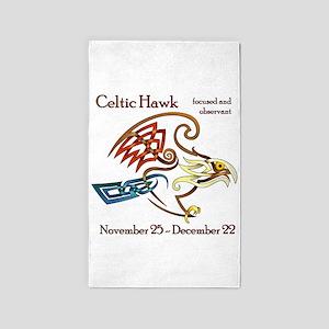 Celtic Hawk 3'x5' Area Rug