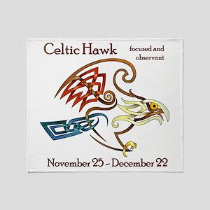 Celtic Hawk Throw Blanket
