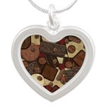 Got Chocolate? Silver Heart Necklace