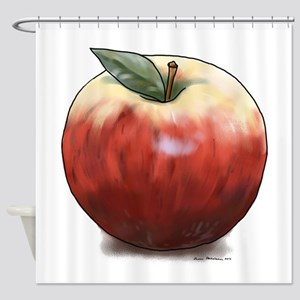 Crunchy Apple Shower Curtain