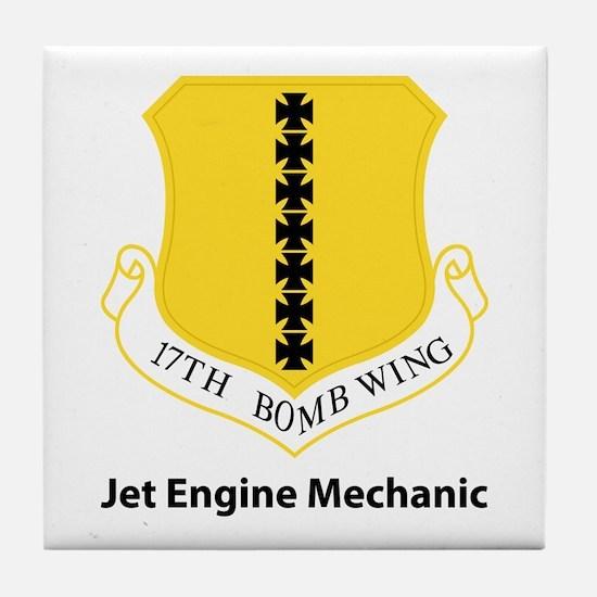 17th Bomb Custom Tile Coaster