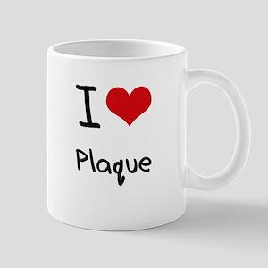 I Love Plaque Mug