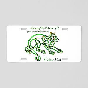 Celtic Cat Aluminum License Plate