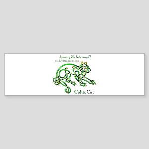 Celtic Cat Bumper Sticker
