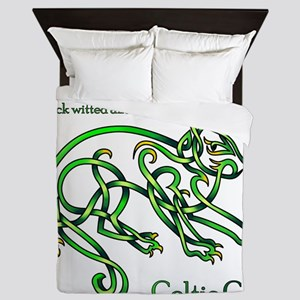 Celtic Cat Queen Duvet