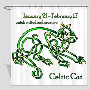Celtic Cat Shower Curtain