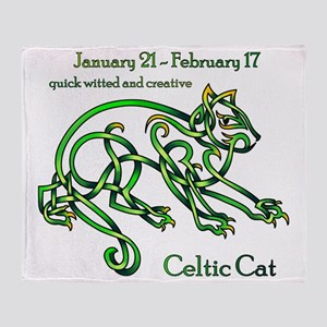 Celtic Cat Throw Blanket