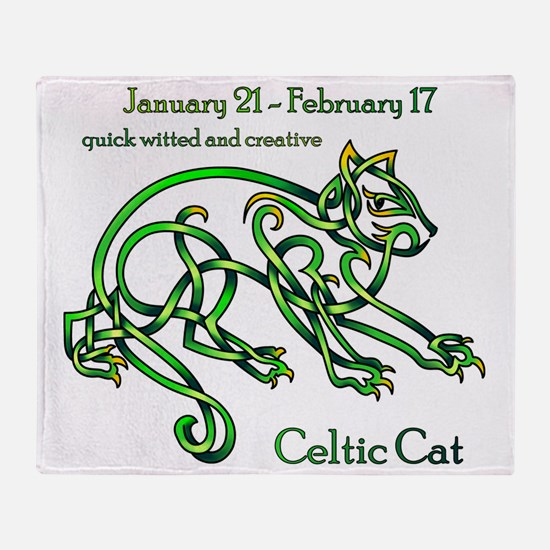 Celtic Cat Throw Blanket