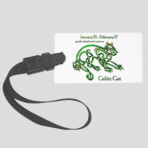 Celtic Cat Luggage Tag
