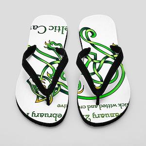 Celtic Cat Flip Flops