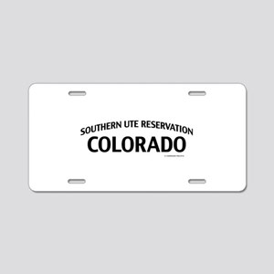 Southern Ute Reservation Colorado Aluminum License