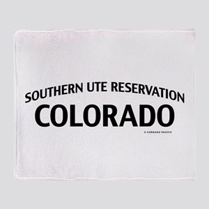 Southern Ute Reservation Colorado Throw Blanket