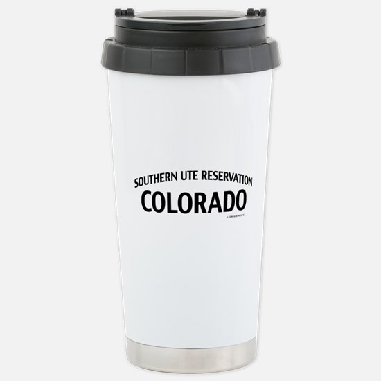 Southern Ute Reservation Colorado Travel Mug