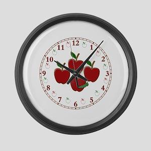 appleclock Large Wall Clock