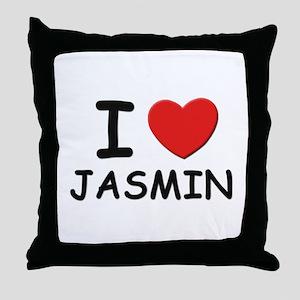 I love Jasmin Throw Pillow