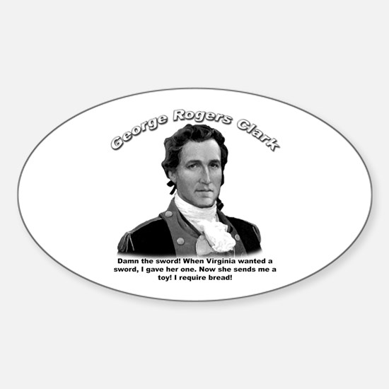 George Rogers Clark 01 Oval Decal