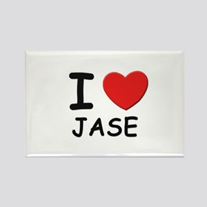 I love Jase Rectangle Magnet