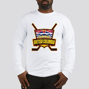 British Columbia Hockey Flag Long Sleeve T-Shirt