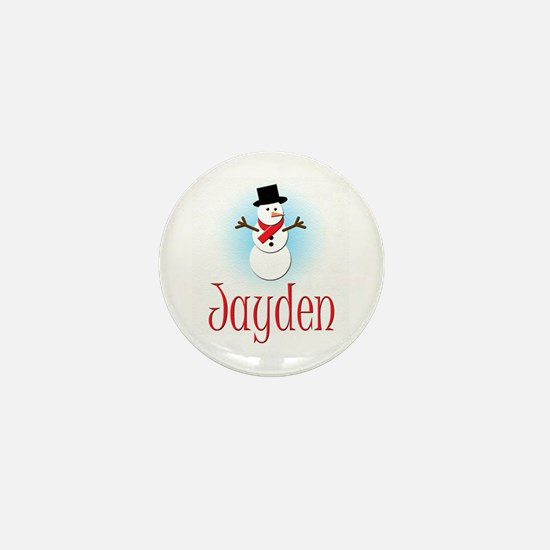 Snowman - Jayden Mini Button