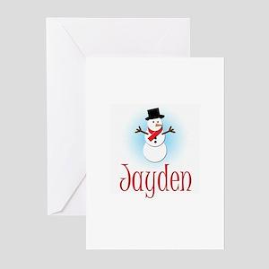 Snowman - Jayden Greeting Cards (Pk of 10)