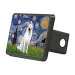 Starry-White German Shepherd Rectangular Hitch Cov
