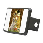 The Kiss-Yellow Lab 7 Rectangular Hitch Cover