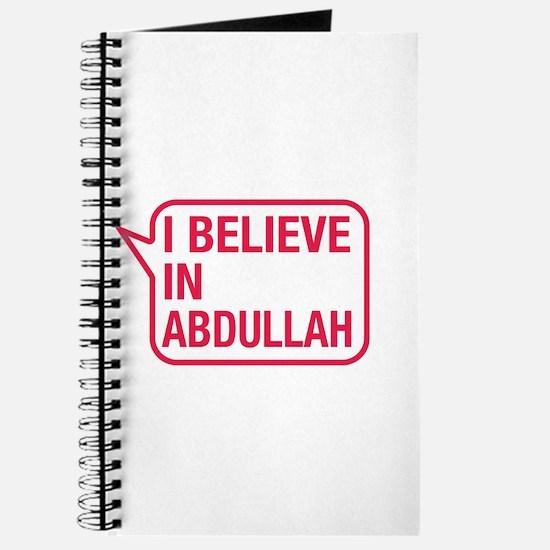I Believe In Abdullah Journal