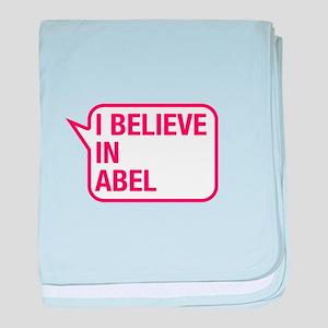 I Believe In Abel baby blanket