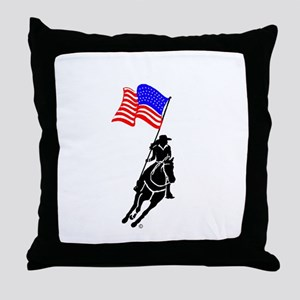 Flag Rider Throw Pillow